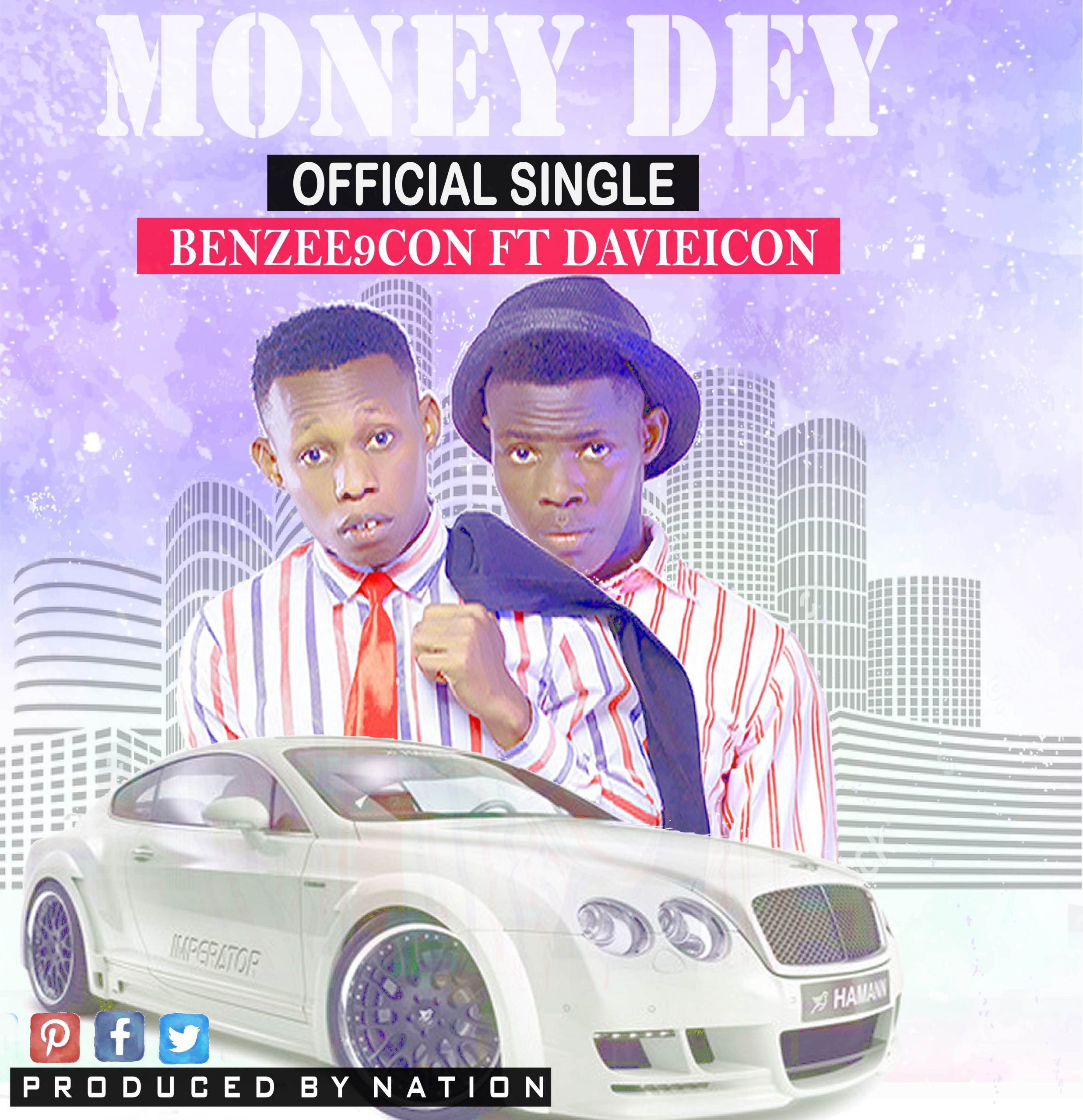 Download MoneyDey by BENZEE9CON ft Davieicon (produced by nation)
