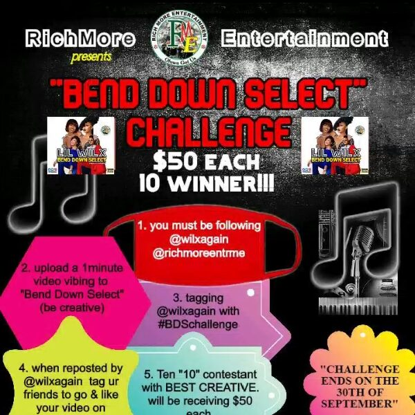Win 50 dollars on Lil Wilx bend down select challenge